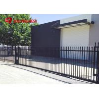 Quality Galvanized Steel Spear Top Security Fencing Heavy Duty 2 Rail Powder Coated for sale