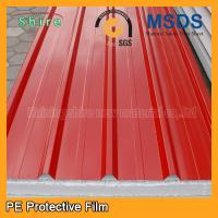 Quality Temporary Surface Protection Films And Tapes For PPGI / PPGL Corrugated Roofing Sheet for sale