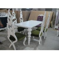 Quality Restaurant Elegant White Wooden Modern Dining Room Tables And Chairs (180 cm) for sale