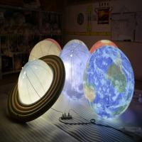 Buy cheap 1m Inflatable Advertising Balloons / LED Lighting Universal Globe for Decoration from wholesalers