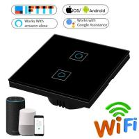 Buy 1/2/3 Gang Wireless Touch Switch 220v, Wifi Wall Touch Sensor Switch EU Standard at wholesale prices