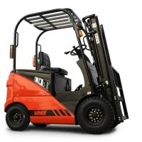 China Capacity 1.5 Ton Mini Electric Forklift With Wide View Mast Solid Tire Side Shifter on sale