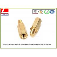 Quality High Precision Cnc Turning Male Female Thread Bolts , Brass Machined Parts For Fastener for sale