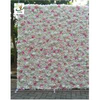 Quality UVG CHR1136 DIY backdrop wedding in pink artificial rose flower wall for stage decoration for sale