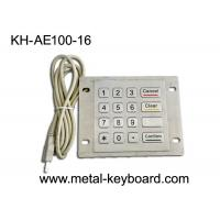 Quality Dustproof USB Port Industrial Stainless Steel Keypad Metal With 16 Flat Keys for sale