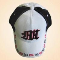 Quality 100% Cotton Baseball Cap with Embroidery on Front and Rear for sale