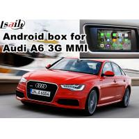Quality Audi A6 S6 Video interface Mirror Link Rearview Gps Car Navigation Device Quad Core 1.6 Ghz Cpu for sale