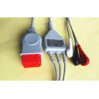 Buy cheap Red One Piece ECG Lead Wires 3.2 Metre Bionet ECG Cable ISO13485 product