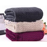 Warm Embossed Soft Knitted Flannel Throw Blankets For Couches 100% Polyester