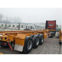 China 40ft 12m Tractor Trailer Truck 3 Axle Skeleton Semi Trailer For Container Transport on sale