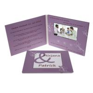 Quality A5 Celebration Digital Video Brochure 1GB Memory UV Printing Video Message Card for sale