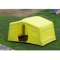 Quality 0.9mm PVC Tarpaulin + Oxford Cloth Tourism / Advertising Inflatable Party Tent Yellow for sale