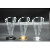 Buy cheap Disposable Plastic Goblet  Ice Cream  Juice Oblique Cone Cup 160ml product
