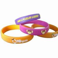 Quality Embossed Silicone Wristbands for sale