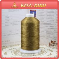 China Multicolor Mercerized polyester filament thread / machine embroidery thread on sale