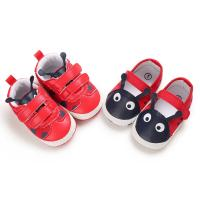 China popular pu&cotton Red shoes lovely worm toddler boy girl cute babe shoes on sale