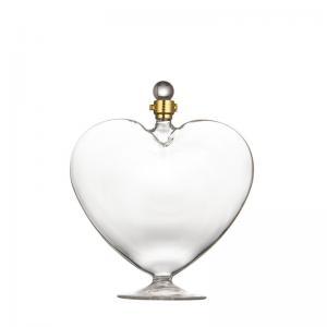 China Lead Free Screw Cap Heart Shaped Glass Wine Bottles on sale