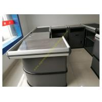 Buy cheap Electronic Supermarket Conveyor Belt Checkout Counter With Electrical Engine product