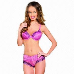 Quality Girls' Sexy Lace Bra Set/Dotty Bra Set, 2013 New Design for sale