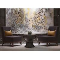 Buy cheap Leisure Purple Fabric Modern Lobby Furniture , Lobby Wooden Easy Chair product
