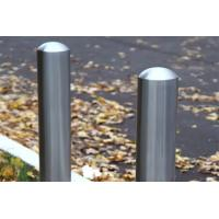 Quality Geometric Design Steel Safety Bollards , Fixed Station Colorful Car Park Bollards for sale