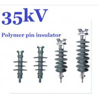 Quality 11kV - 36kV Silicon Rubber Polymer Pin Insulator For HV Distribution Lines for sale