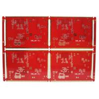 China HASL E Cigarette FR4 4 Layer PCB Board With Half Hole Red Solder Mask on sale