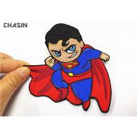 China Superman Personalized Embroidered Patches / Custom Embroidered Logo Patches on sale