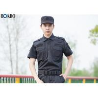 Quality Cool Security Guard Uniform , Black Short Sleeve Security Uniform Shirts for sale