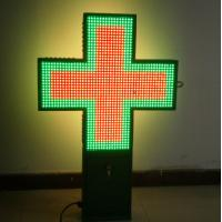 Quality P20 outdoor full color pharmacy led signs cross sign 3D animation for shop, hospital for sale