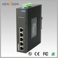 Fanless Dinrail Industrial Level Ethernet Network Switch For Plug And Play