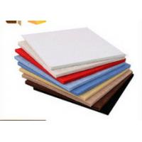 China White Red Blue Polyester Decorative Acoustic Wall Panels / Ceiling Board on sale