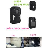 Quality OEM 1440P Wearable Wifi Camera / Waterproof Live Streaming Body Camera With 4g Gps for sale