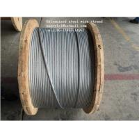 Quality ASTM B498 Galvanized Guy Wire , 1*7 1*19 Galvanized Wire Rope With Strong Adhesion for sale