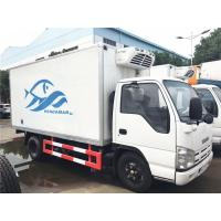 Quality ISUZU 4 Ton - 5 Ton Ice Box Truck , 3 Layer Refrigerated Cold Room Truck for sale