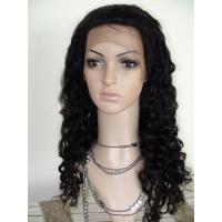 China Beautiful Black Color Fashion Water Wave Top Quality Cheap Full Lace Wigs With Baby Hair on sale