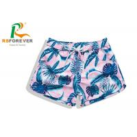 Quality OEM Customized Waterproof Breathable board shorts / women swim trunks women with drawstring and pocket for sale