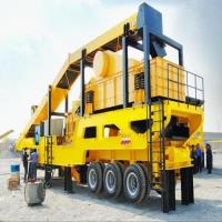 Quality Rubber - Tyred Mobile Crushing Plant / Vertical Shaft Impact Crusher Trailer Frame for sale
