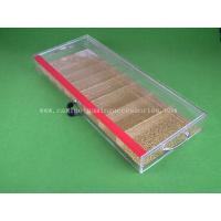 Buy cheap 9 Row Different Size Transparent Poker Chip Tray Acrylic baccarat Table Dealer product