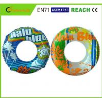 Quality Machine Printing Swimming Float Ring , Inflatable Pool Rings For Adults 0.25mm Thickness for sale