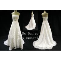 China Madehand Flower Strapless backless Wedding Dress Bridal Gown with Eipper BYB-14596 on sale