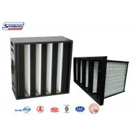 Quality Ventilation System Mini Pleat V Bank Filters with Black ABS Plastic Frame for sale