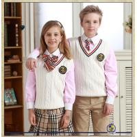 China customized top quality Sweaters Suits School Students Uniforms For Kids Autumn wear with white or red on sale