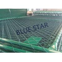 Quality Green / Balck Wire Mesh Fencing  PVC Coated 0.5 - 6m Width Chain Link Fence for sale