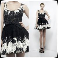 Buy Black Zuhair Murad Lace Short Evening Party Dresses , Mini Cocktail Party Gowns at wholesale prices