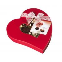 Quality Red Heart Shaped Rigid Cardboard Chocolate Packaging Boxes With Pantone / CMYK UV Coating for sale