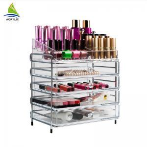 Quality Elegant Makeup Storage 4 Drawer Storage Box Clear Acrylic Tiers Display Shelf for sale