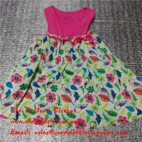 Quality Summer Cotton Baby Flower Used Girls Dresses Second Hand Childrens Clothing for sale