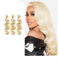 China 613 Blonde Hair Malaysian Body Wave Bundles / Natural Wave Hair Extensions on sale