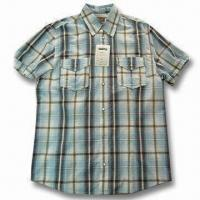 Quality Men's Short-sleeve Shirt without Sew Collar for sale